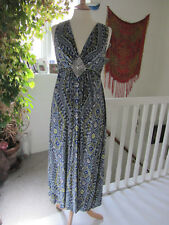 Monsoon Beautiful Summer Maxi Dress Embellished Size M Great preloved condition.