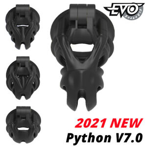 2021 New Python V7.0 3D EVO Cage Mamba Male Chastity Device Double-Arc Cuff Ring