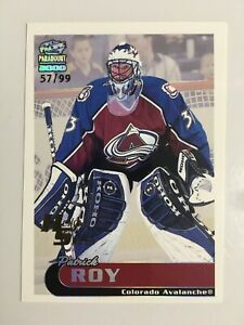 1999-00 PARAMOUNT HOLOGRAPHIC SILVER #67 PATRICK ROY /99