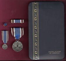 Secretary of Defense Award medal for Outstanding Public Service in case set