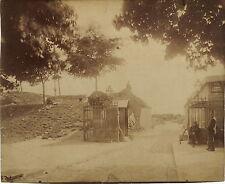 PHOTO VINTAGE : EUGENE ATGET PARIS 1900 PORTE D'ARCUEIL - MONTSOURIS albumine