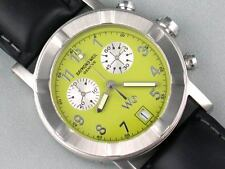Raymond Weil W1 Mens Chronograph Lime Green Dial Steel Watch 6800 (without band)