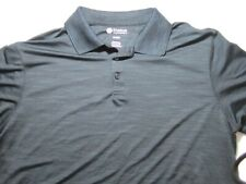 Haggar Clothing Men's Mottled Black & Blue Golf Polo – Extra large – Preowned