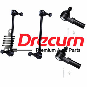 4PC Front Suspension Tie Rod Sway Bar Kit For Saturn L100 L200 LS1 LW1 LW2 LW300