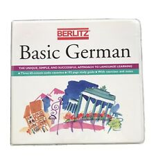 Berlitz Basic German Language Learning  Cassette Tapes  and Study Guides