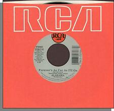 """Alabama - Forever's As Far As I'll Go + Starting Tonight - 7"""" 45 RPM Single!"""