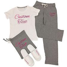 Custom Printed T-Shirt & Trousers Pyjamas Set - Personalised Sleep Over Party PJ