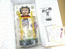 Betty Boop Cheerleader Porcelain Doll Danbury Mint w/Coa & Original Packaging