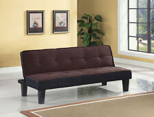 Twin Microfiber Futon Mattress Folding Couch Sofa Bed Convertible Sleeper Brown