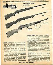1960 Print Ad of Mossberg Model 351K 350K Sporter & 352 352K .22 Rifle