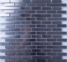 Slight Surface Damage Brushed Stainless Steel Brick Shape Mosaic Wall Tiles 0171