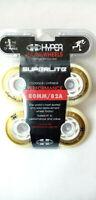 HYPER Superlite Inliner Rollen 4 Stück Wheel für Fitness Skates 80 mm 82 A
