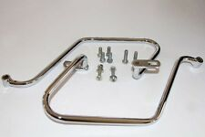 TEC Chrome Pannier / Saddle Bag Bars - Triumph Bonneville SE Thruxton T100