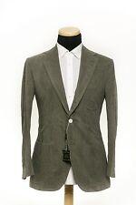SARTORIA PARTENOPEA NAPOLI Washed Cotton Suit Solid Light Green 40US 50EU 7R