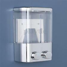 Double Wall Mount Soap Shampoo Shower Gel Dispenser Liquid Foam Lotion Bottle