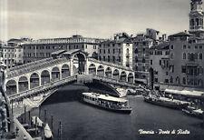 Italia - Venezia  -  Ponte di Rialto il Canal Grande  -  ca.1965