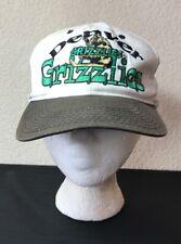 Vintage Denver Grizzlies Hat Cap Hockey Ihl White Brown Green Snapback Colorado