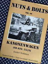 KANONENWAGEN SdKfz 251/9 STUMMEL Stump German AFV Half Track Nuts & Bolts Vol 6
