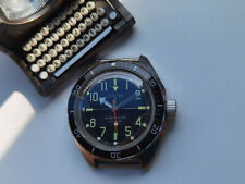Rare Collectible USSR WATCH VOSTOK SNIPER BLACK ANTIMAGNETIC AMPHIBIAN Serviced
