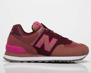 New Balance 574 Women's Garnet Washed Henna Low Casual Lifestyle Sneakers Shoes