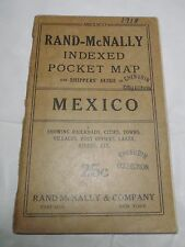 1918 Rand McNally California Indexed Pocket Map & Tourist and Shippers Mexico
