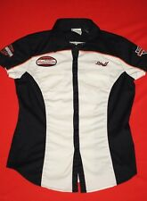 Genuine Harley Davidson Women's Staff Shirt Snap Button Embroidered Small