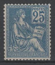 "FRANCE STAMP TIMBRE N° 118 "" MOUCHON 25c BLEU TYPE II "" NEUF xx SUPERBE K792"