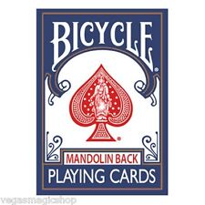 Mandolin 809 Blue Back Deck Bicycle Playing Cards Poker Size USPCC New Sealed