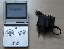 Nintendo GameBoy Advance SP Spiele Konsole in Silber