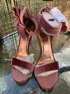 Mink/Pink Ted Baker Torabel Peep Toe High Heel Court Shoes UK 6, Eur 39, New