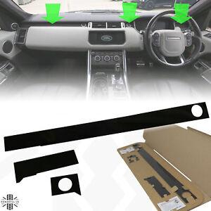 Interior dash inserts upgrade trim Gloss Black for Range Rover Sport L494 fascia