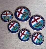 Alfa Romeo Badge Front Bonnet Rear & Wheel Stickers MITO 147 156 159 166 GTV