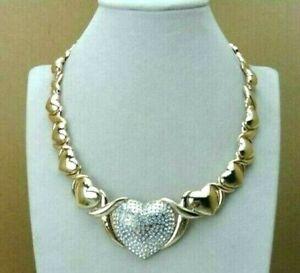 Hugs and Kisses XO X O Heart Real 18k Layered Gold Necklace Bracelet 4 pcs Set