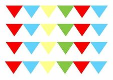 FLAG BUNTING   EDIBLE CAKE RIBBON DECORATING ICED ICING FROSTING