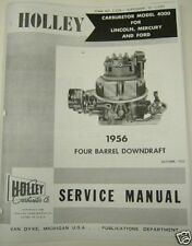 1956 Continental Mark II Holley Carburetor Manual Free Shipping
