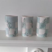 3 ceramic Vases Blue/White art Decorative,Modern Flower,table candle holder