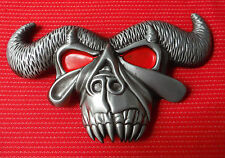 3D BULLS HEAD HORNS RODEO STEER TEXAS LONGHORN MATADOR MAD BULL BELT BUCKLE