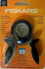 Fiskars Heart Medium Squeeze Punch Paper Scrapbooking Nip