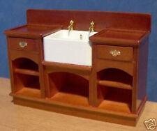 1/12, Dolls House furniture Miniature Sink & Shelves Belfast / Butler Unit LGW