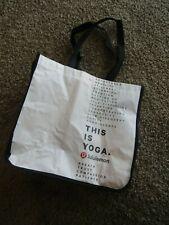 Lululemon White/Black Printed Snap Top Tote Bag Size Large 14 x 15