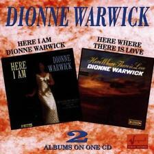 DIONNE WARWICK – HERE I AM • HERE WHERE THERE IS LOVE (NEW/SEALED) CD