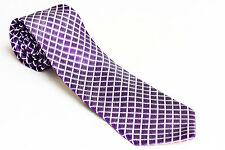 Donald Trump 100% Silk Signature Collection Purple Granite Grid Men's  Tie