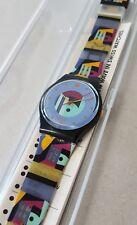 Swatch Gent GB141 Gold Inlay - 1991 NEU ungetragen in OVP