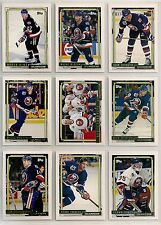 1992-93 Topps GOLD Parallel Team Set New York Islanders (21) Pierre Turgeon Etc.