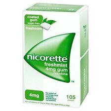 Nicorette Freshmint 2mg Nicotine Sugar Gum 105 Pcs