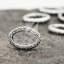 50pcs Tibetan Silver Pendant Charm Links Connector Jewelry Ring 16.5x12x3mm