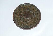 old Austria 1 kreuzer copper coin 1851 A XF