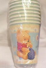8 NEW WINNIE THE POOH POOH'S PLAYFUL BABY  PAPER CUPS  PARTY SUPPLIES