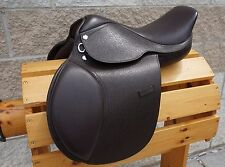 "16.5"" Dark Brown Leather Close Contact English Saddle Medium Regular Tree"
