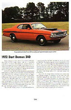 1972 Dodge Dart Demon Article - Must See !!